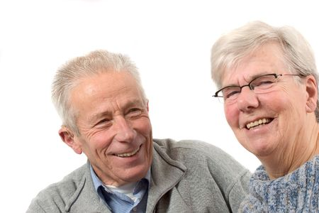 Senior couple having fun photo