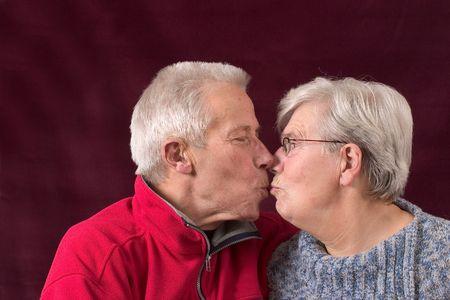 Giving a kiss photo