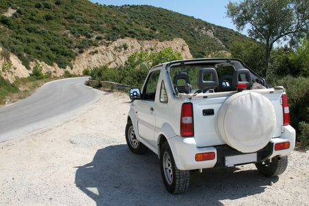 fourwheeldrive: Little white jeep on a Greek island ready to explore