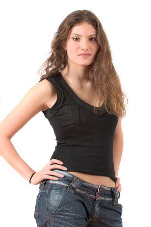 Beautiful teenage girl Stock Photo - 568732