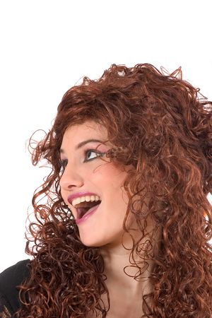 Beautiful curly girl with happy face Stock Photo - 568700