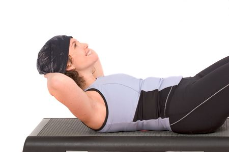 excercise: Woman doing abdominal excercise