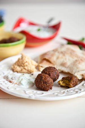 homemade style: Delicious homemade snacks in mediterrean style
