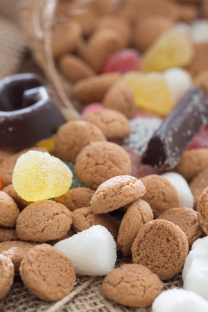 sinterklaas: Traditional candy which is used for Sinterklaas in december