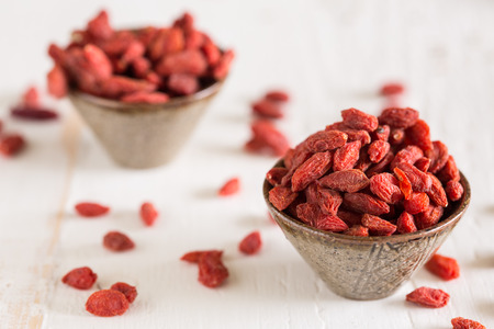 goji berry: Goji berries are considered one of the superfoods Stock Photo