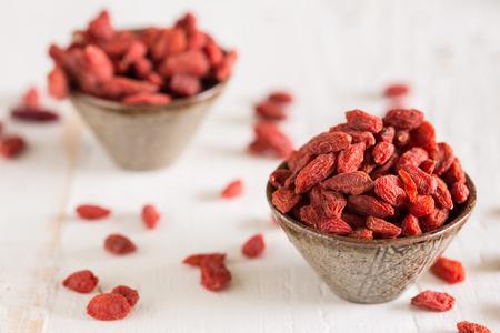 goji: Goji berries are considered one of the superfoods Stock Photo