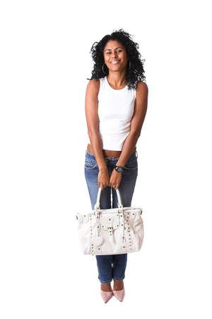 go shopping: Beautiful brazilian woman ready to go shopping
