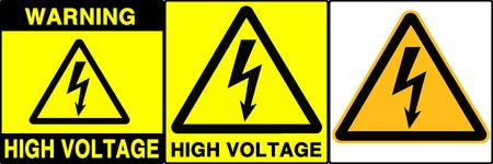 High voltage warning series. Three different signs. Made with PS, big size, high RES & quality. Stock Photo - 240007