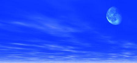 moons: Moonlight background. Digitaly created Stock Photo