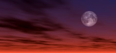 created: Moonlight background. Digitaly created Stock Photo