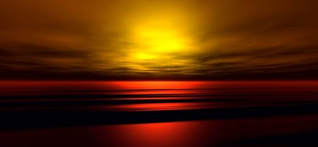 Coucher du soleil arri�re-plan. Digitaly cr��