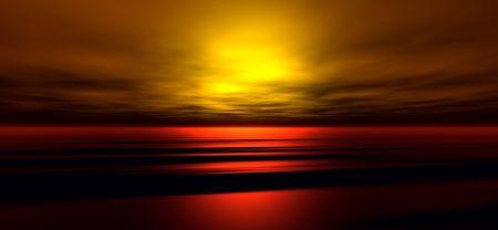 Sunset background. Digitaly created Stock Photo