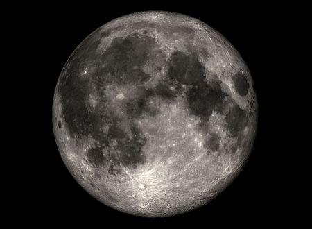 Full moon, realistic looking, digital designed