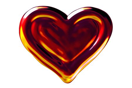ballad: Fire heart, flames looking, isolated Stock Photo