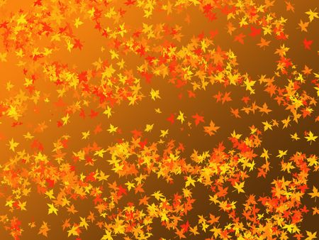 Abstract background- Autumn theme, falling leaves