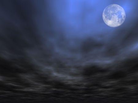 satelite: Fondo del cielo con la Luna Llena