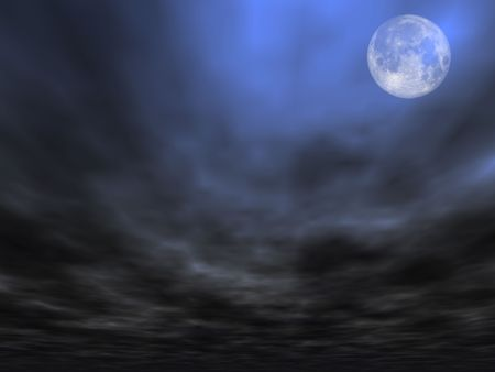 Sky background with Full Moon