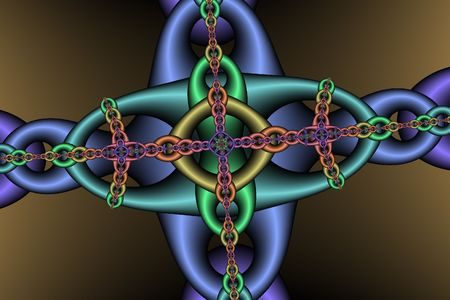fetter: Chain pattern, bright and clear details. Digitally created.