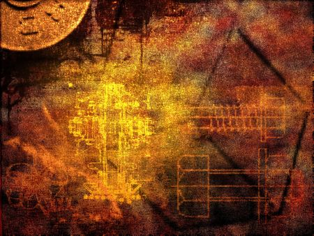 Background, digitaly designed. Abstract illustration, rusty colors