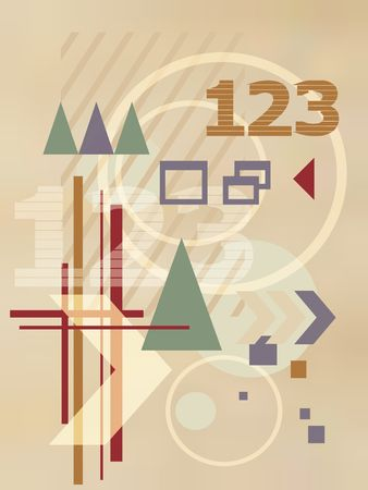 printable: Abstract illustration Stock Photo