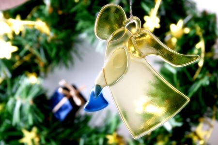 donative: Christmas background with an angel
