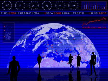Conceptual design: business, trading, market, global, stock photo