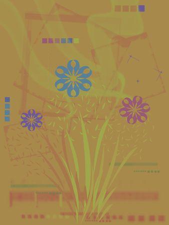 Contexte floral abstrait