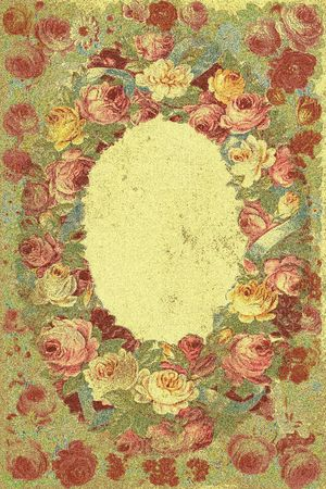 Victorian design: floral background-frame. Clipart used from IMSI according to License Agreement Stock Photo