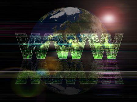 worldwide web: Web mundial de las series globales del fondo Foto de archivo