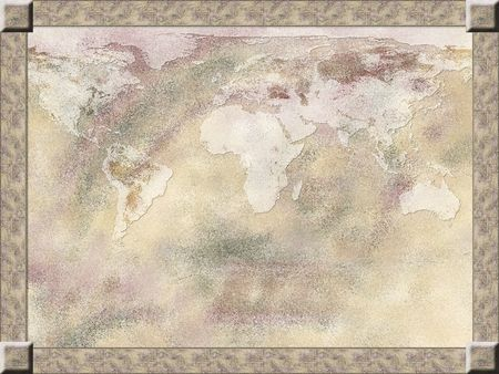 Map background, framed in light pastel colors Stock Photo