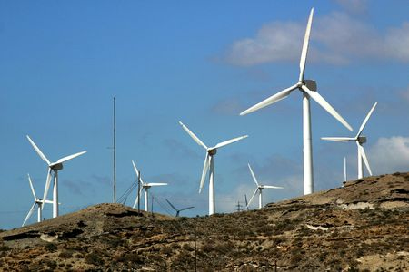 Wind power-station, Canary Islands photo