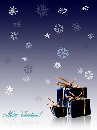 Gifts background with greeting
