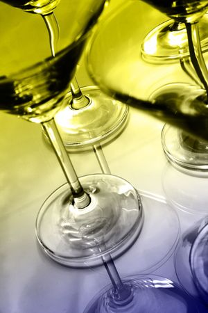 brewage: Martini glasses and reflections Stock Photo