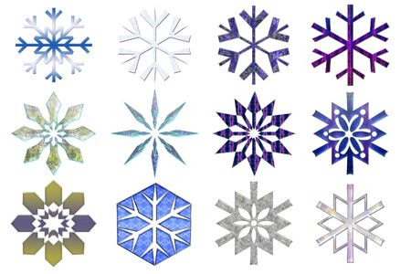 Snowflakes collection #3. Isolated