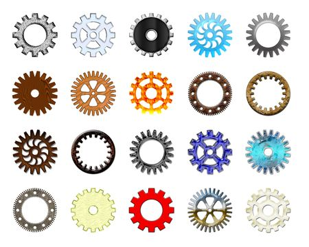 Gears collection #1. Isolated Stock Photo