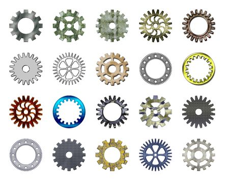 Gears collection #2. Isolated Stock Photo