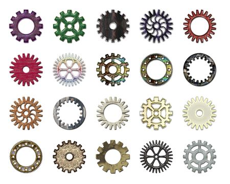 Gears collection #5. Isolated Stock Photo