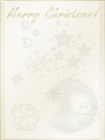 Christmas background. Light parchment like paper, retro mode Stock Photo - 259270