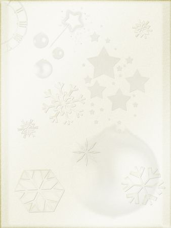 Christmas background. Light parchment like paper, retro mode