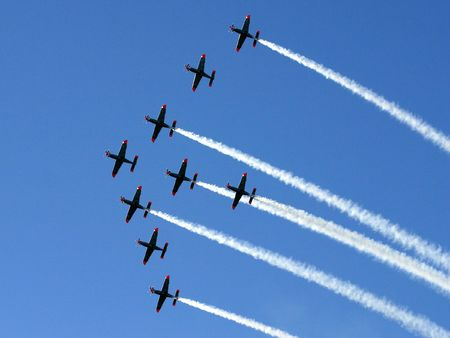 pilotage: Synchronized team flight- flying in formations