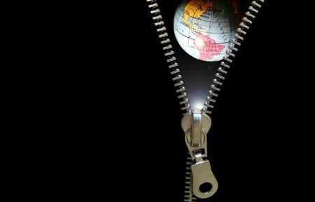 planetary: Zipper concept. Revealing planetary, education, astronomy