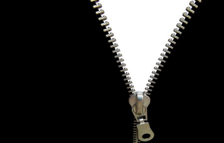 figurative: Zipper concept. Black and white. Space for your ideas