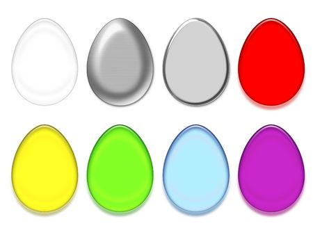 colorific: Easter eggs colored silhouettes, isolated