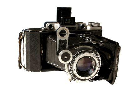 photgraphy: Retro camera, isolated Stock Photo