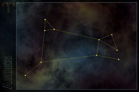 Zodiac constellation - Aries photo