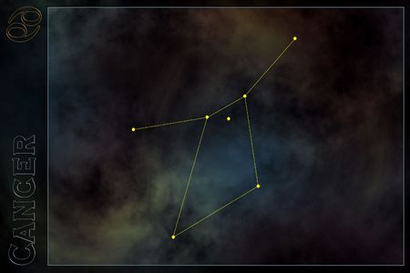 Zodiac Constellation - Cancer  Banque d'images
