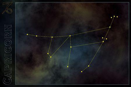 Zodiac constellation - Capricorn Stock Photo - 512182
