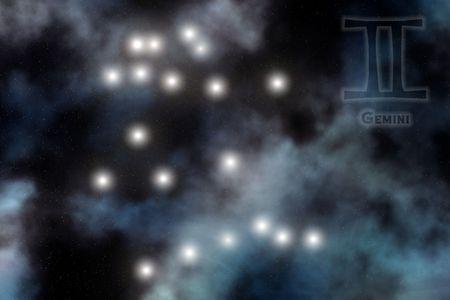 Zodiac constellation - Gemini Stock Photo - 512177