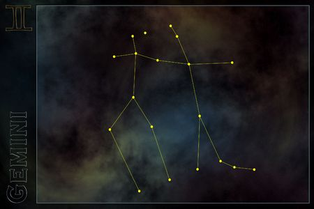 Zodiac constellation - Gemini Stock Photo - 512178