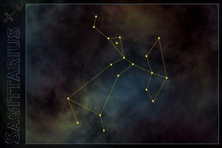 Zodiac constellation - Sagittarius Stock Photo